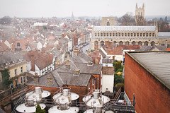 Bury-St-Edmunds from the Brewery Roof (nickcoates74) Tags: 30mmf28dn 30mm sigma a6300 burystedmunds eastanglia ilce6300 sony suffolk uk greeneking brewerytour roofs roof rooftop brewery stedmundsbury cathedral church stmary stmarys affinityphoto