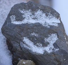 DSC_8647 (jgdav) Tags: ancient rock snow image macro ochre blue quartz pigment america petroglyph