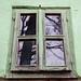 Old Green Wooden Window