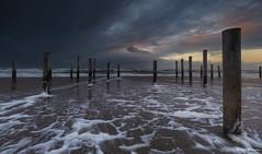 Storm in Holland (Wim Boon Fotografie) Tags: wimboon canoneos5dmarkiii canonef1635mmf4lisusm leefilternd09softgrad leefilter storm strand beach petten sunset holland nederland netherlands natuur nature wind