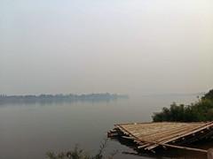 Smoky morning on the Mekong 1 (SierraSunrise) Tags: air esarn isaan mekong mekongriver nongkhai phonphisai pollution rivers smoke thailand