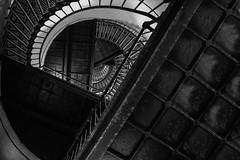 Lighthouse Staircase (Klaus Ficker (Thanks for 5,000,000 views)) Tags: staircase lighthouse tybeeisland bw blackandwhite stairs kentuckyphotography klausficker canon eos5dmarkii usa aoi elitegalleryaoi bestcapturesaoi
