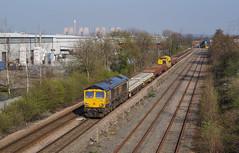 66751 At Castle Donington. 29/03/2019. (briandean2) Tags: 66751 castledonington leicestershire railways ukrailways ukfreighttrains ukengineeringtrains