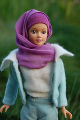 Fulla wearing Vintage Barbie's Mood for Music from 1962-1963 (Emily1957) Tags: fulla hijab vintage fashion mattel dolls doll toys toy light nikond40 nikon naturallight kitlens moodformusic muslimdoll