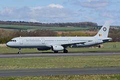 CS-TRJ Airbus A321-231 EGPK 25-04-15 (MarkP51) Tags: cstrj airbus a321231 a321 belgianairforce prestwick airport pik egpk scotland military transport aircraft airliner airplane plane image markp51 nikon d7100 sunshine sunny aviationphotography