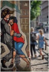 Unterwegs in Berlin (kurtwolf303) Tags: berlin deutschland germany kurtwolf303 graffito people mft omd olympusem1 streetphotography urban