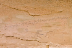 Spanish Traveler's Inscription on Wall in El Morro National Monument (Lee Rentz) Tags: antiquitiesact cibolacounty coloradoplateau elmorro elmorronationalmonument inscriptionrock inscriptionrocktrail newmexico spanish theodoreroosevelt trailoftheancientsbyway america americanwest archaeological archaeology carved carving cultural culture desert dry historic history horizontal interpretation journey landscape names nature northamerica oasis passing path pool promontory record rock route sandstone script source southwest stone trail travel traveler usa water wateringhole west