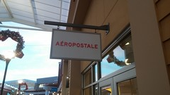 "Apparently, it means ""air mail,"" and I've been totally butchering the pronunciation for years. (Retail Retell) Tags: aéropostale aero reopening closing store closure liquidation southaven ms towne center desoto county retail tanger outlets outlet mall memphis"