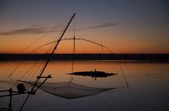 (nadiaorioliphoto) Tags: tramonto sunset capannodapesca net hut water skyline paesaggio wetland valle landscape