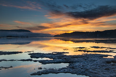 Cowichan Bay sunrise (mysticislandphoto) Tags: landscape sunrise ocean estuary cowichanbay colourful vancouverisland explored