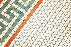 Sidewalk with antique floor tile (CarmenSisson) Tags: tile ususa unitedstates antique background ceramic copyspace day diagonal floortile flooring geometric grout noone nopeople nobody old outdoors outside pattern porcelain sidewalk squares tiled vintage mobile alabama usa