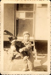 Young Child With Stuffed Toy (Familypapers) Tags: portrait blackandwhitephoto children babypictures child stuffed animal stuffedtoy toys winter wintergear trailer 1930s stuffanimal toddler alabama usa robertsdale