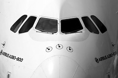 Grey mood... (Manuel Negrerie) Tags: a6edw a380800 a380 ek closeup design aviation cockpit airbus canon sight plane aircraft jetliner airbusa380 jumbo eads bw photography view travel