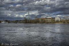 Stürmischer Frühling in Dresden (binax25) Tags: dresden elbflorenz spring fühling sturm clouds wolken hdr elbe river fluss japanisches palais
