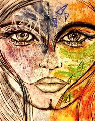 Luz (franck.sastre) Tags: regards miradas rostros art painting colors lips eyes