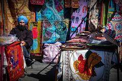 New York, NY (Frank van Hoorn) Tags: newyork ny fleemarket fabrics colorful turban sikh grandbazaarny