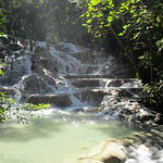 Jamaica -  Ocho Rios: step by step to the top - overview of Dunn's river waterfalls thumbnail
