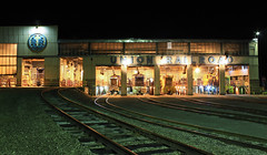 Nights of Hall (GLC 392) Tags: nigh time exposure urr union railroad railway train emd mp15dc caboose hall roundhouse round house monroeville pa pennsylvania 32 23 12 11 et1 sw1500 edgar thomson works ussx united states steel