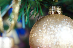 DSC_0840 (Lyn_roc) Tags: holiday bokeh holidaybokeh merrychristmas christmas ornament nikon d3200 macromondays gold glitter