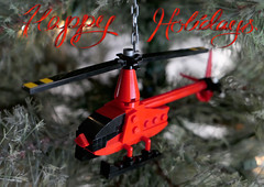 Merry Christmas! (Dread Pirate Wesley) Tags: lego moc creation holiday christmas ornament tree helicopter rotorcraft aviation