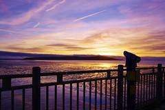 Watching the sunset (Sundornvic) Tags: beach sunset sea sand shore coast westonsupermare bristol channel sky clouds