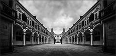 Stallhof-Dresden (antonkimpfbeck) Tags: architektur art digital mirror monochrome dresden stallhof bw