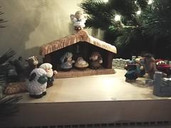 Kerststal_HelderheidContrast (EliseRe) Tags: kerstmis kerststal helderheid contrast