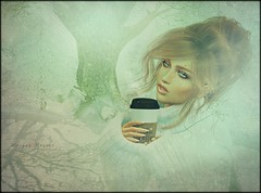 ...a cozy winter morning ♥ (morganmonroe1) Tags: coco dva coffee winter cozy sweaters snow ginger redhead