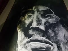 Acrylic canvas study I made in 2003  ------- Peinture sur toile que j'ai faite en 2003 (étude) ------- #art #painting #toile #canvas #frame #artist #peinture #benheine #face #portrait (Ben Heine) Tags: toile art canvas face peinture painting artist portrait benheine frame