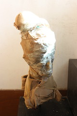 a woman in stocking  No.4 (Kazuko Tsukioka) Tags: sculpture stocking japanesepaper head cover