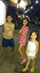 Me with 2 neighbor kids (ghostgirl_Annver) Tags: asia asian girl annver boy kids children teens street outside dark family friends