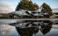 RAF Tornado GR.4 reflection (The Don Photography) Tags: tornado tonka gr4 mighty fin raf marham beast aviation avgeek military photography puddle arty