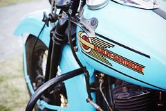 Vintage Harley in blue (Eric Flexyourhead) Tags: surrey britishcolumbia bc canada southsurrey crescentbeach crescentbeachconcoursdelegance 2018 bike motorbike motorcycle detail fragment american harley harleydavidson tank fueltank vintage retro classic blue shallowdepthoffield sonyalphaa7 zeisssonnartfe55mmf18za zeiss 55mmf18