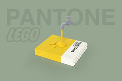 LEGO PANTONE 109C tap - atana studio (Anthony SÉJOURNÉ) Tags: pantone 109c lego color tap brick afol moc creator atana studio anthony séjourné