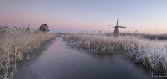 Early mornings in Kinderdijk (Wim Boon Fotografie) Tags: wimboon kinderdijk koud windmill winter winterlicht canoneos5dmarkiii canonef1635mmf4lisusm leefilternd09softgrad leefilter holland nederland netherlands natuur nature unescoworldheritage sunrise