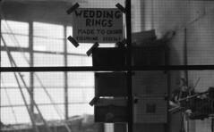 Wedding Rings (Kovács Anna) Tags: sheffield yashica analogue balckandwhite bw feketefehér steal weddingring wedding ring custommade fx3 yashicafx3 ilford hp5