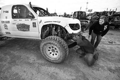 Off Road Racing 7 (CameraOne) Tags: wideangle raw blackandwhite monochrome dirt offroadracing pitstop 7196 tacoma toyota truck cameraone canon5d canonef1740mm nevada pahrump pahrump250 bestinthedesert desert racing offroad