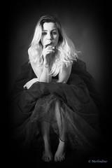 Sarah .... (Merlindino) Tags: sarah bw models monocrome blonde beauty sony fashion portrait ritratto