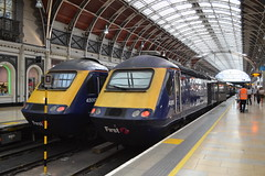 Great Western Railway HST 43063 & 43018 (Will Swain) Tags: london paddington station 9th july 2018 great western railway hst 43 gwr first group class high speed south west train trains rail railways transport travel uk britain vehicle vehicles england english europe 43063 43018 063 018