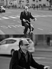 [La Mia Città][Pedala] (Urca) Tags: milano italia 2018 bicicletta pedalare ciclista ritrattostradale portrait dittico bike bicycle nikondigitale scéta biancoenero blackandwhite bn bw 11832
