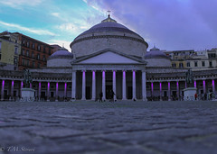 Sunset in Piazza del Plebiscito, Napoli, Italy (TMStorari) Tags: piazzaplebiscito piazzadelplebiscito napoli naples italy italia sunset piazza square city streetphotography cities beautiful sightseeing view light purple columns temple italien travel visit discover campania suditalia