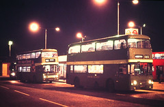 Slide 130-64 (Steve Guess) Tags: kingston surrey greater london england gb uk fairfield cattlemarket bus station buses lcsw country southwest an leyland atlantean alexander strathclyde night