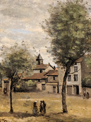 """Courtyard with Nuns"" (1855-60), Jean-Baptiste-Camille Corot (Joey Hinton) Tags: phoenix art museum pixel2 google android smartphone cellphone cameraphone phone arizona"