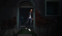 """"""" Never Look Back """" (maka_kagesl) Tags: secondlife sl second life game gaming games virtual videogame portrait photography photo picture pose pic painting posing door house wall"""