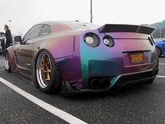 2012 Nissan GT-R (splattergraphics) Tags: 2012 nissan gtr customcar slammed carshow huntvalleyhorsepower huntvalleytownecentre huntvalleymd