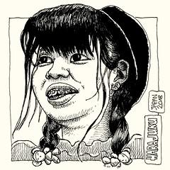 Harajuku (- MrH -) Tags: drawing illustration sketch sketchbook line linedrawing blackandwhite bw japan japanese tokyo harajuku japanesewomen penandink croquis dessin portrait art myart femaledrawing draw