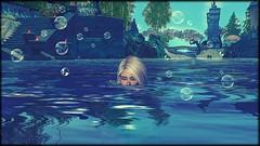 Under Water... (Angel Neske) Tags: angel water portrait mythology mythos sl bubbles landscape