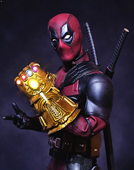 What if Deadpool had the Gauntlet? (Jezbags) Tags: what if deadpool had toy toys hottoys sideshow canon canon80d 80d 100mm closeup upclose macro macrophotography dreams marvel marvelstudios fox infinitygauntlet gauntlet