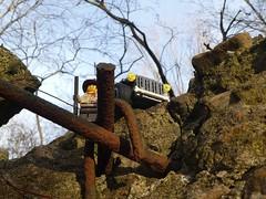 Higher Ground (captain_joe) Tags: toy spielzeug 365toyproject lego minifigure minifig moc car auto jeep 6wide bunker hasselfelde mönkeberg ölberg