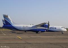 IndiGo ATR72-600 F-WWED (VT-IYV) (birrlad) Tags: toulouse francazal airport france atr prop props turboprops parked apron ramp storage delivery indigo at76 atr72 atr72600 fwwed vtiyv